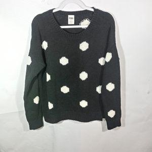 PINK Polka Dot Oversized Sweater